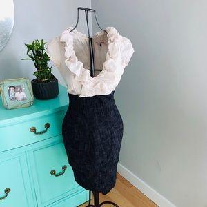 Rebecca Taylor silk and tweed dress sz 2